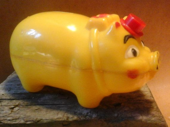 1950s  Plastic Piggy Bank, by WES-KO of California