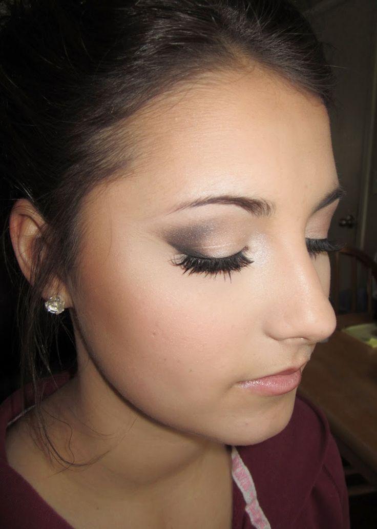 Prom Makeup for Brown Eyes, Brunette.  Airbrush, Smokey Eye. Beauty by Kristen Nicholle www.kteexo.com