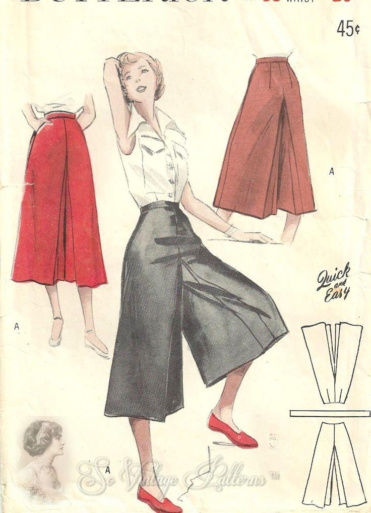 Butterick 5275 circa 1950 culotte
