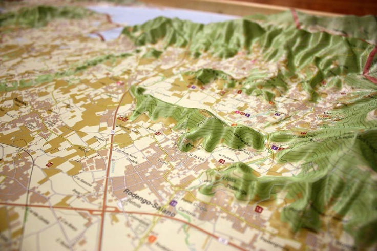 Franciacorta Wine Region Raised Relief Map