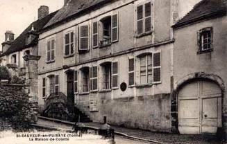 Maison natale de Colette, à St Sauveur-en-Puisaye