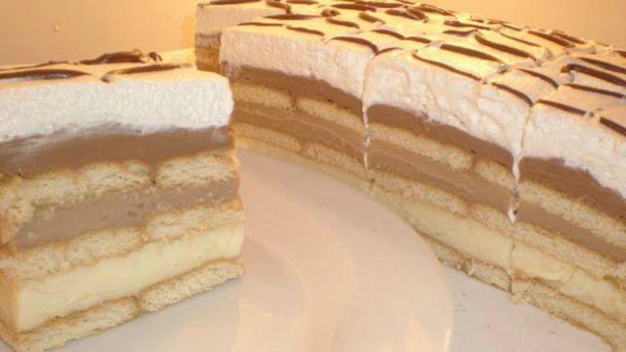 Výborný nepečený dortík s pudinkem! Jednoduchá a rychlá příprava! | Milujeme recepty