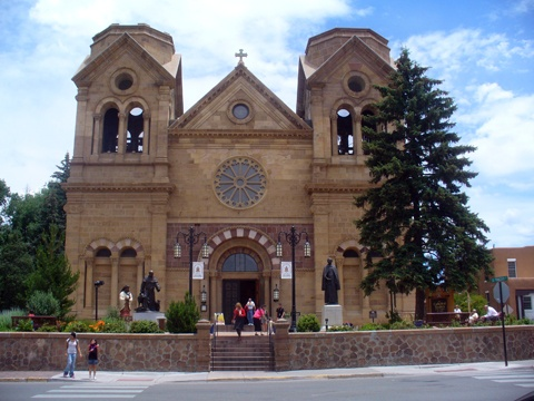 Sante Fe, NM, Cathedral Basilica of Saint Francis of Assisi.  My dad made us attend Mass in Latin while we were there.