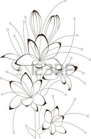 Mazzo Di Fiori Vettoriale.Disegni Astratti Vintage Mazzo Di Fiori Disegno Floreale
