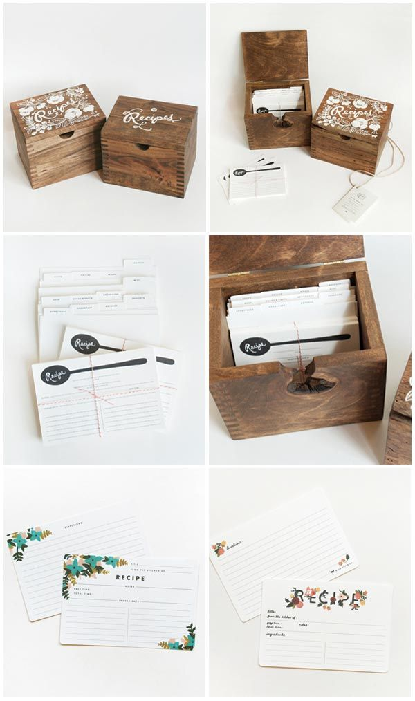Recipe Box, perfect for a wedding shower! Start the bride to be with some great recipes!