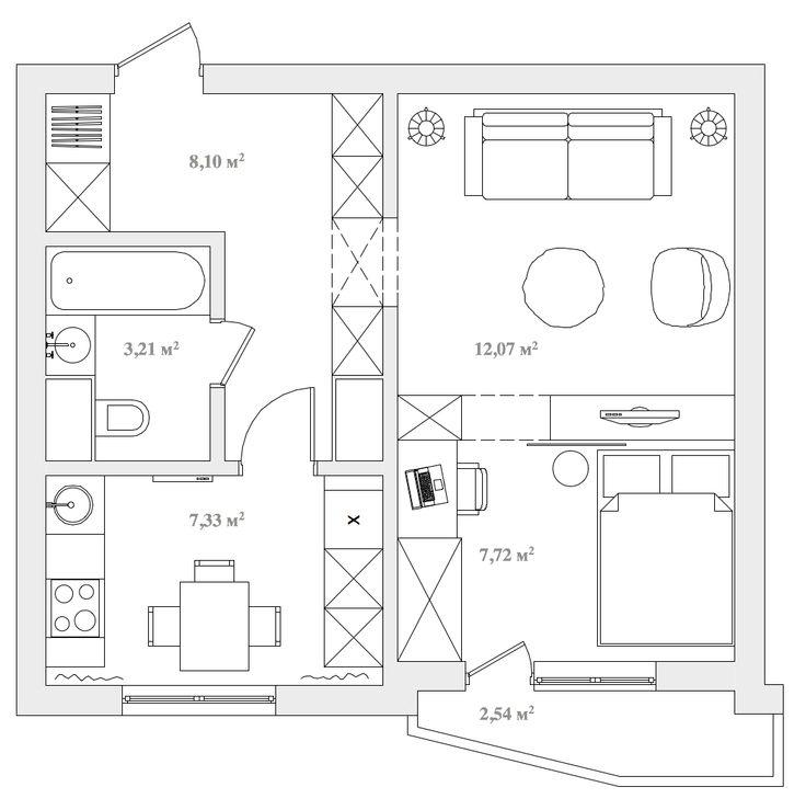 Дизайн однокомнатной квартиры   Второй сезон планировочных решений однокомнатных квартир бесплатно! (прием закрыт, 6 из 10...