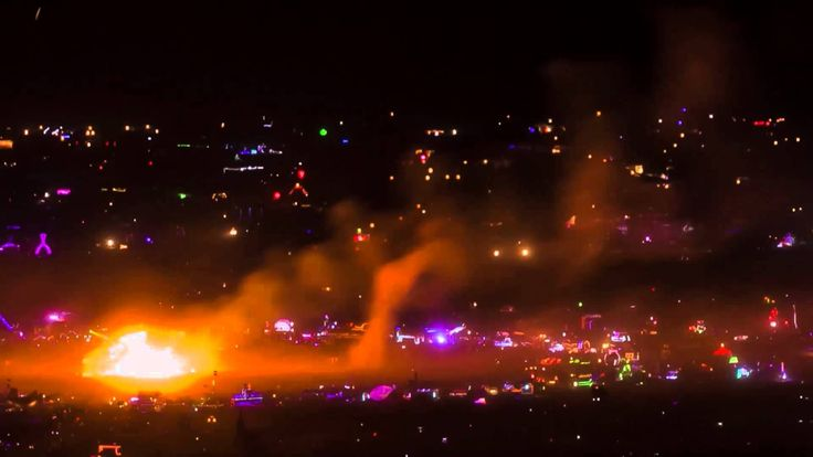 A Time-Lapse of Burning Man 2013 As Seen From Miles Away Atop a Mountain