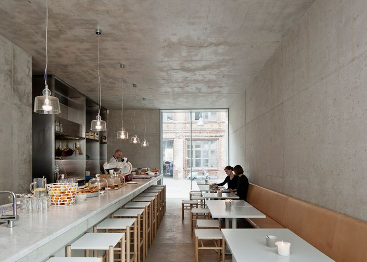 David Chipperfield's Berlin team added four concrete blocks to a former piano factory in Mitte to create their studio.