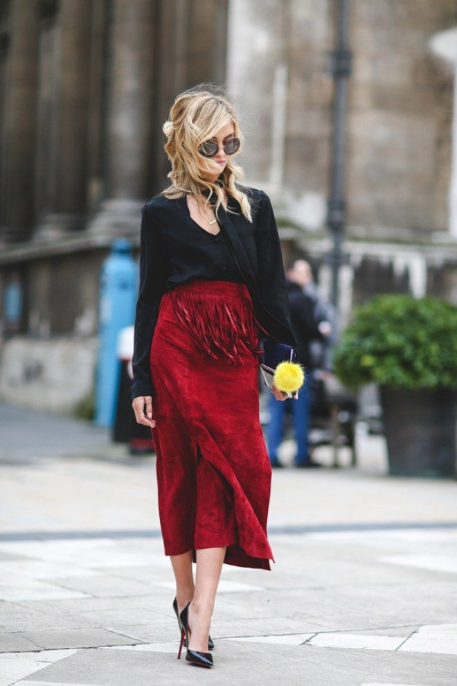 London Fashion Week Aw16 Street Style En Las Puertas De