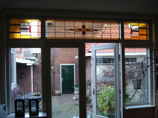 Jaren 30 glas in lood mooi geheel jaren 30 pinterest - Deco gang huis ...