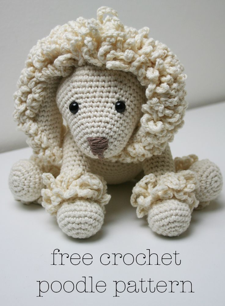Free Amigurumi Poodle Pattern : Crochet poodle pattern poodles free and patterns