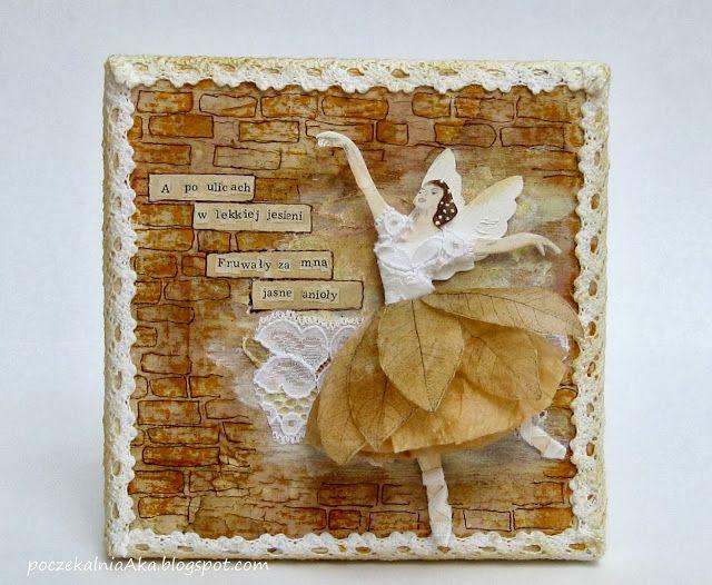 autumn; ballerina; a quote; http://3rdeyecraft.com/pl/p/TES-080-brick-wall-sciana-z-cegiel/87 http://3rdeyecraft.com/pl/p/listek-stempel-TES-026S-leaf-small/79 http://3rdeyecraft.com/