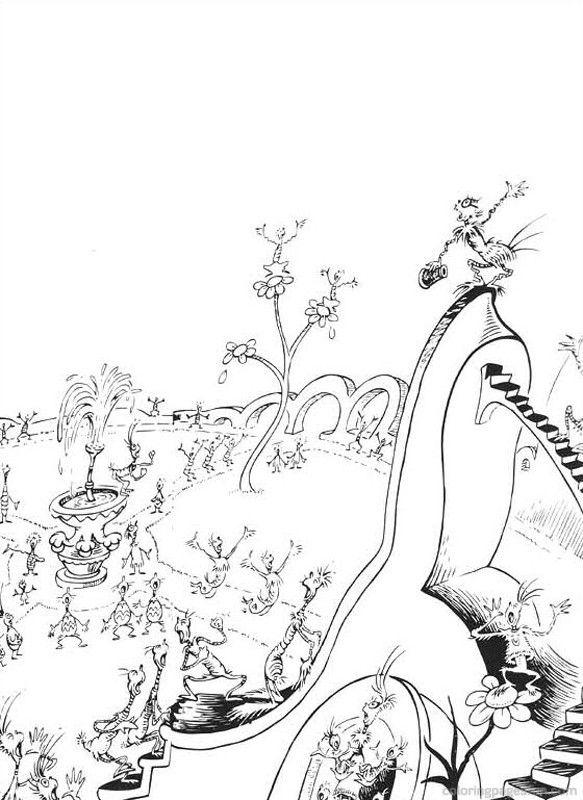 Excepcional Dr Seuss Para Colorear Imprimible Embellecimiento ...