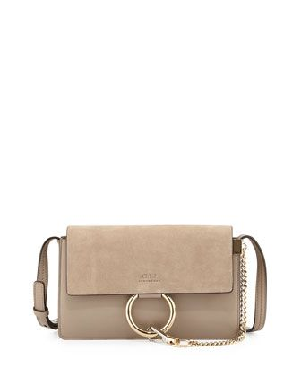 Faye Small Suede Shoulder Bag by Chloe at Bergdorf Goodman.