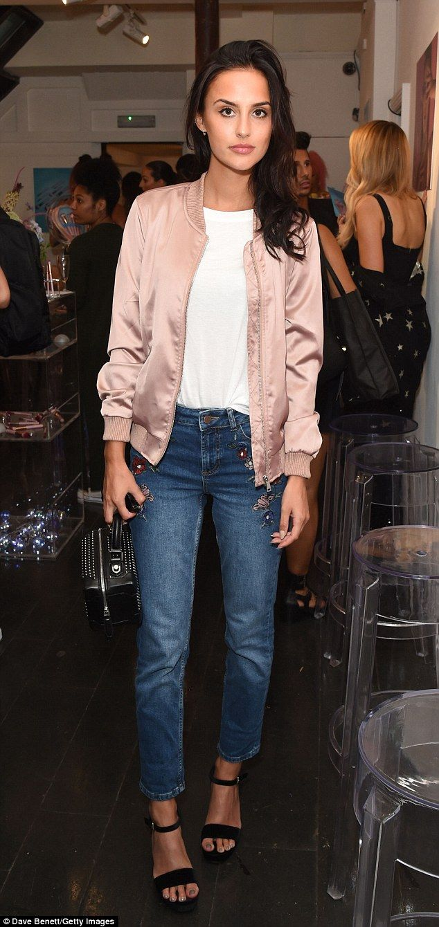 MIC's Lucy Watson made an appearance at Spectrum's AW16 preview party in Soho, London on Thursday night wearing Dorothy Perkins embroidered jeans.