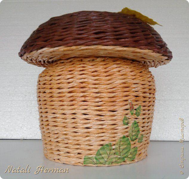 Мастер-класс Поделка изделие Плетение Гриб Трубочки бумажные фото 1