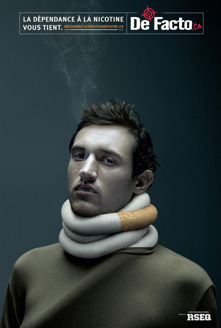 De Facto: Nicotine addiction - man | Ads of the World™