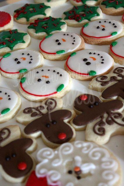 Christmas cookies los renos son muñecos al revez