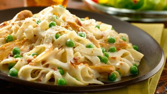 Onions, bacon and parmesan cheese combine to give this creamy pasta recipe a smokey flavor. Try Smokehouse Bacon Chicken Carbonara for dinner tonight!