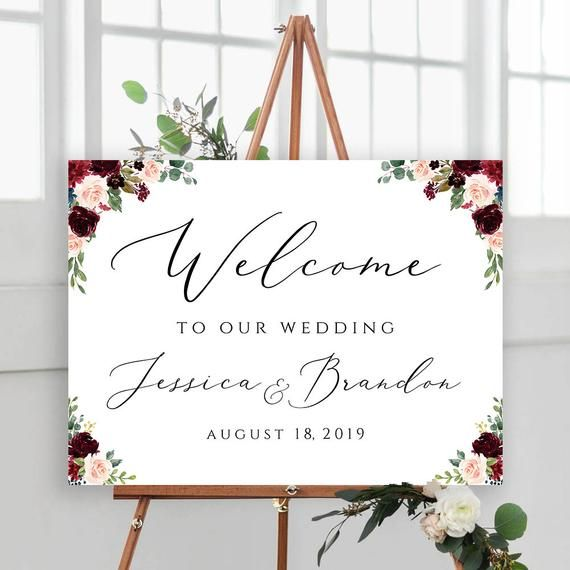 Welcome To Our Wedding Editable Wedding Signs Welcome Wedding Sign Template Welcome Sign Floral Prin Welcome To Our Wedding Wedding Welcome Signs Wedding Signs