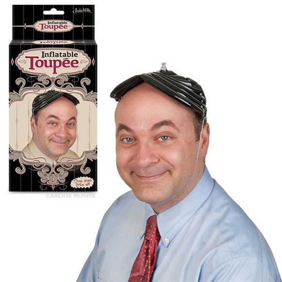 Tía Witty: Inflatable Toupee, Instant hair when YOU need it