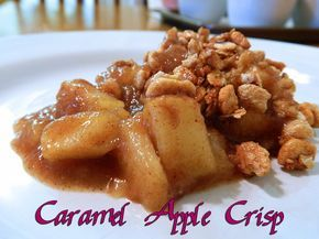 When your sweet tooth attacks, fight back with this healthy Caramel Apple Crisp.  WLS Meal. WLS Recipe. Eating Bariatric