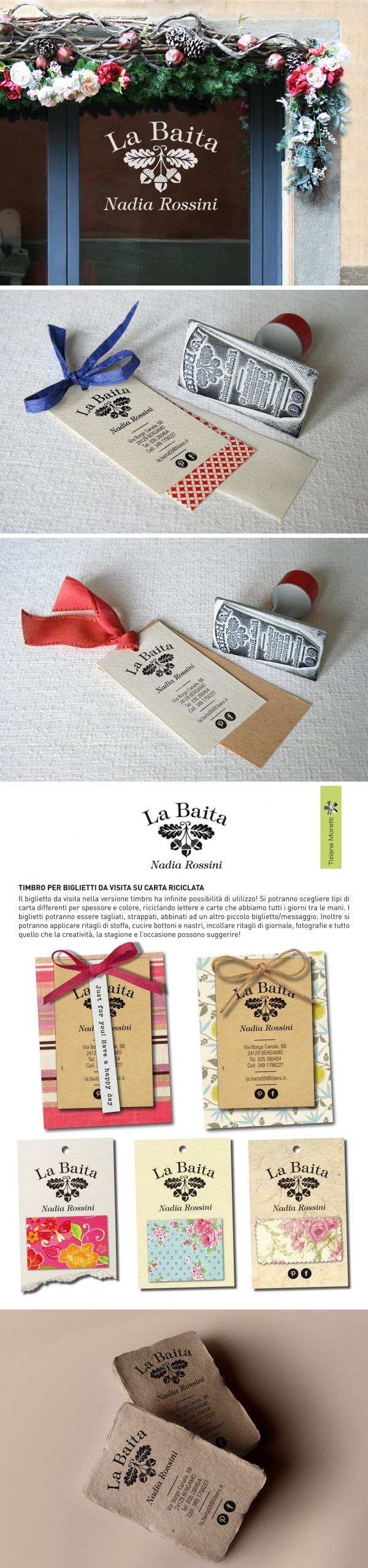 La Baita - Handcraft shop brand identity. Design by Tiziana Moretti. https://www.behance.net/gallery/26039941/La-Baita-Handcraft-shop-brand-identity
