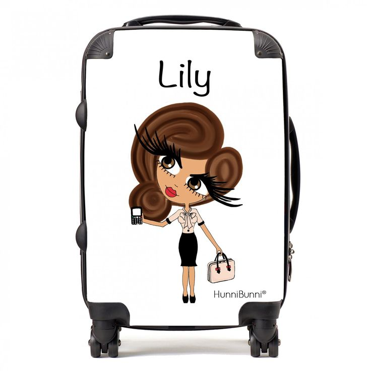 HunniBunni Babes White Personalised Suitcase