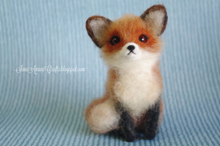 Needle felted red fox by SaniAmaniCrafts.deviantart.com on @deviantART
