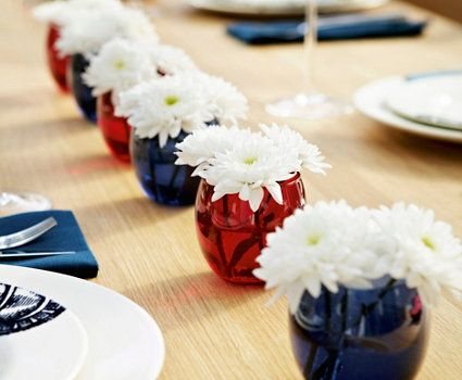 Easy table decor for Memorial Day / Fourth of July.