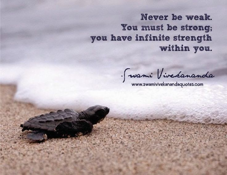 Swami Vivekananda quote: Never be weak. You must be strong; you have infinite strength within you.