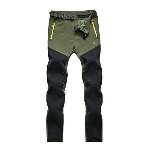 Climbing Hiking Quick Dry Pants for Women Lightweight Waterproof 2XL Army Green * Want additional info? Click on the image.