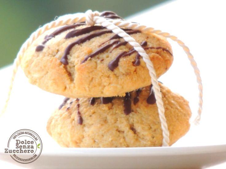 Biscotti Mandorle e Fiocchi di Avena Integrale | Dolce Senza Zucchero