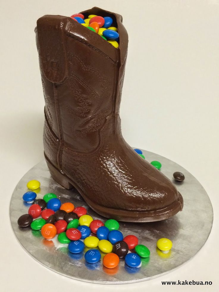 Chocolate decoration Cowboy Boots
