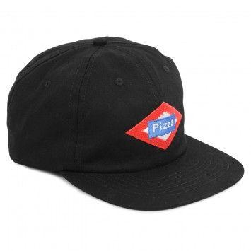 Pizza Skateboards Sol Logo Cap in Black