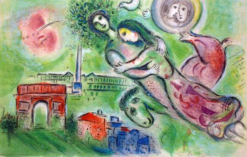 Marc Chagall Romeo and Juliet Poster (Hand Signed)