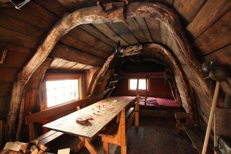 adelaparvu.com despre cabana de munte cu acoperis verde construita de studentii NTNU, cabana Holvasgamma Norvegia (8)