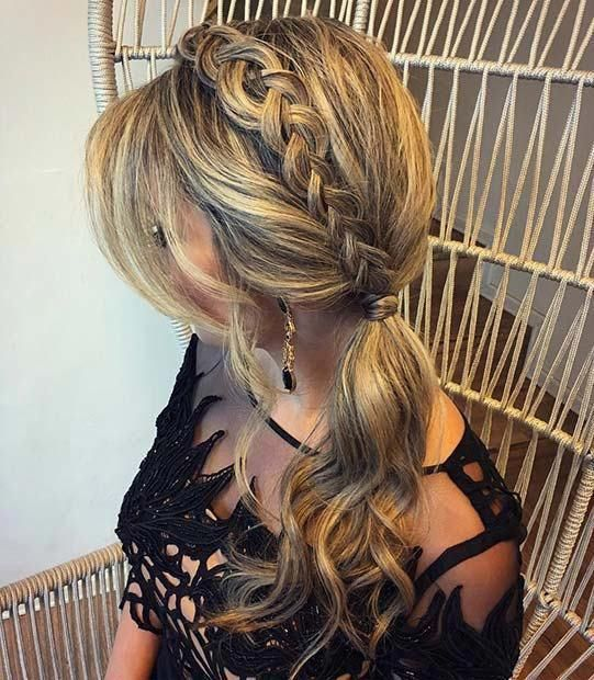 23 Stunning Prom Hair Ideas for 2018: #23. SIDE PONYTAIL WITH BRAID; #prom; #promhair; #ponytail; #braids;