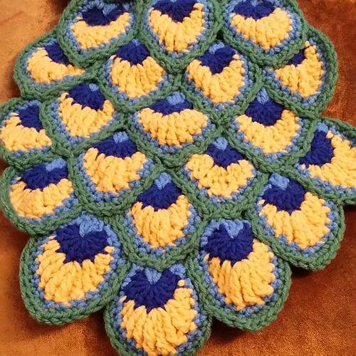 Crochet Peacock Feathers Pattern