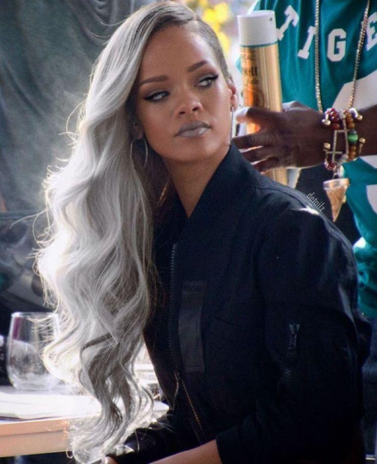 Rihanna Grey Hair Rihanna Hairstyles Long Hair Styles