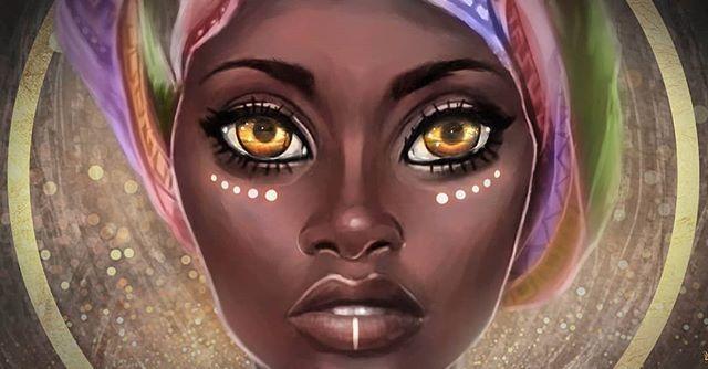 Eyes of Africa (for a Tswana website)  #illustration #art #character #digitalart #african #eyes #tswana #africa #portrait #tribal