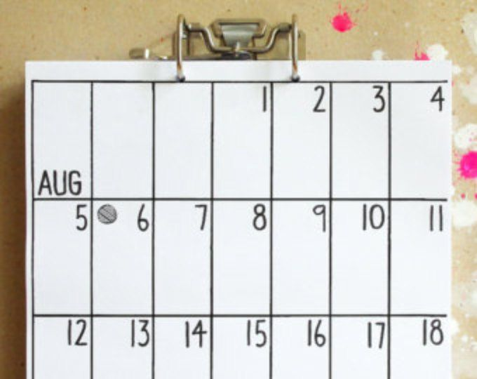 calendar by hippie projects  ★ 18 months in total ★ you can choose the starting month ★ features federal holidays ★ US and CAN calendars: each row (week) starts on Sunday ★ UK and AUS, FR, GER calendars: each row (week) starts on Monday ★ 11 x 17 / 30 x 42 cm ★ on 20 lb / 80g paper (copy paper) ★ metal binder clip included ★ and 2 nails for hanging ★ REFILLS are available in the Shop  Your calendar can start with any month you want until Jan 2018 - Jun 2019. When ordering you can choose…