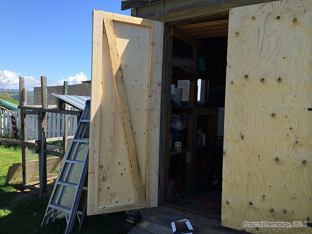 how to make barn doors for a shed