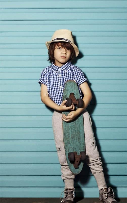 Stylish Skater Boy From