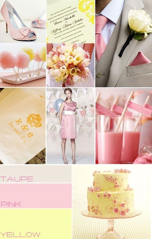 Pink taupe yellow wedding colour,Pink wedding theme,wedding ...