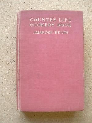 COUNTRY LIFE COOKERY BOOK Ambrose Heath 1st 1937 Wood engravings Eric Ravilious