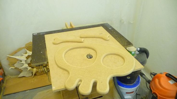 Machining a smooth edge onto the Skull mirror...