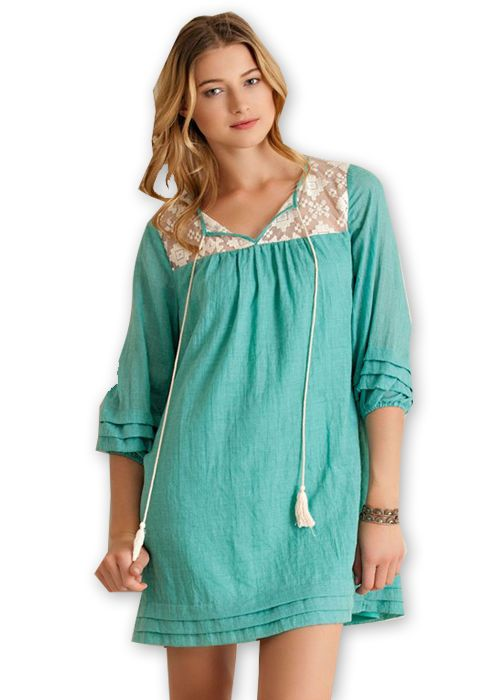 Emerald Lace Babydoll Dress