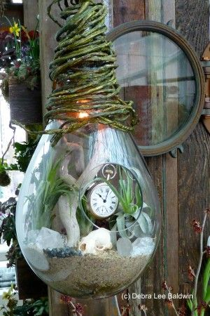 Terrariums are miniature gardens that are perfect for indoor settings, and can include many of the same elements as outdoor fairy gardens.