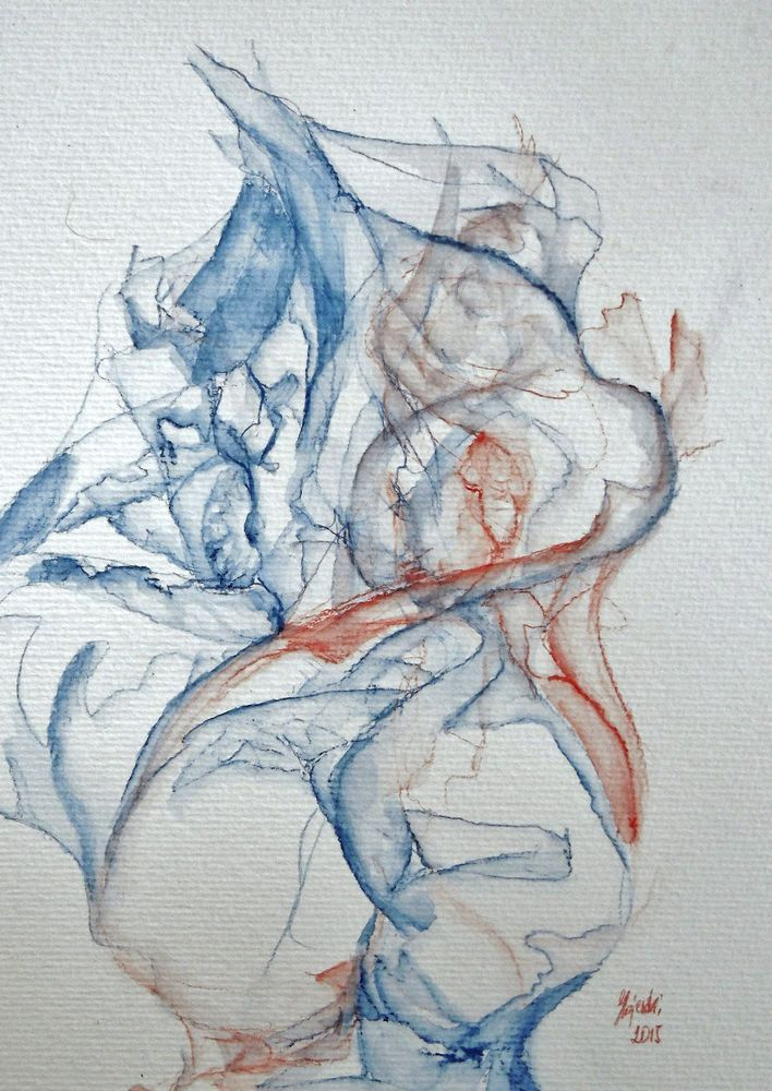 Pin Auf Akt Aquarell Watercolor